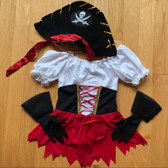 33d9de284 SALE Girls Pirate Ensemble Halloween Dance Costume.  M_5b7087f304e33d60e08b5fde